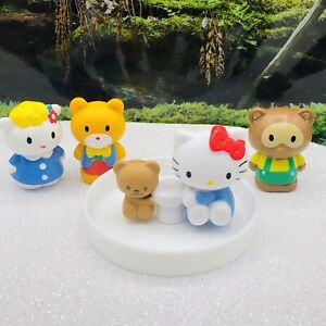 ❤️RARE AUTHENTIC 2012 HELLO KITTY CHARACTERS MINI PVC FIGURE LOT CAKE TOPPERS❤️