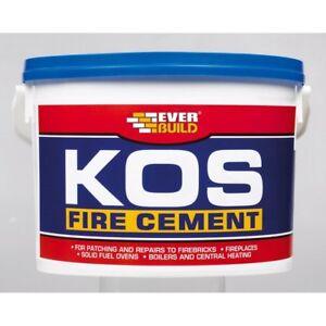 EVERBUILD KOS BLACK FIRE STOVE BRICK STONE HEAT RESISTANT CEMENT ADHESIVE 500G