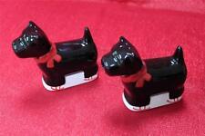 Global Design Kate Williams Scotty Scottie Terrier Dog Plaid Salt +Pepper Shaker