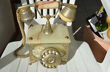 Vieux Téléphone de Collection en Marbre avec Cadran Rotatif et Dorure MIKADUCATI