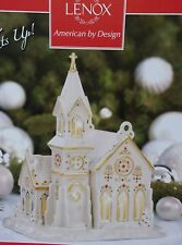 Lenox Mistletoe Park Series Village Church Building / Figurine Lights Up ~Nib!