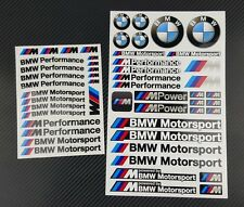 Mpower decal set 53 stickers wheel rim bmw performance Motorsport 3 5 7 series