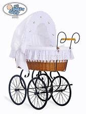 My Sweet Baby - Retro Wicker Crib Moses Basket - White
