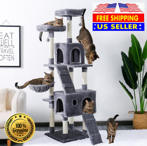 """71"""" STURDY Cat Tree Tower Activity Center Large Playing House Condo For Rest"""