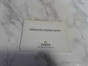 1993 INSTRUCTION BOOKLET OMEGA SPEEDMASTER CAL 1151                #7075