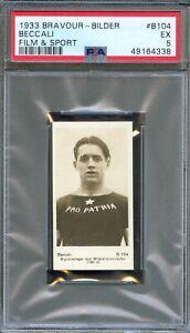 1933 Bravour Bilder Sport Card #B104 LUIGI BECCALI Italian Olympic Runner PSA 5