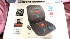 COMFORT MASSAGE SEAT CUSHION WITH HEAT- 4-MOTOR-12V DC & 120V ADAPTORS