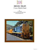 DIESEL TRAIN  - CROSS STITCH CHART