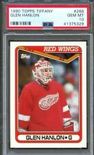 1990 Topps Tiffany #266 GLEN HANLON Detroit Red Wings PSA 10 GEM MINT Pop 1