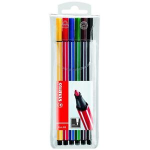 Stabilo Premium-Filzstift, Fasermaler Stabilo-Pen 68, als 6er Pack