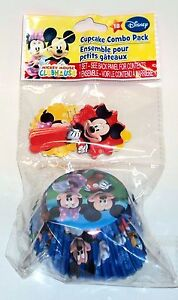 DISNEY MICKY MOUSE CLUBHOUSE Cupcake & Picks Combo Pack 18 Count NIP