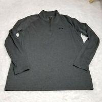 Under Armour Mens 1/4 Zip Pullover Shirt Jacket Large L Loose Gray Heatgear