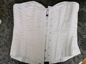 """Corset Story WhiteClassic Longline Waist Taming Overbust Corset Defects Size 34"""""""
