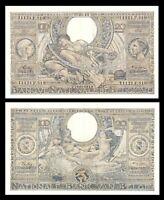 BELGIUM  22.6.1943 / 100  FRANCS 20 BELGAS Large Size Banknote