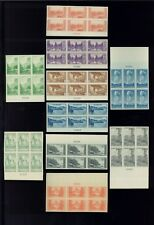 1935 US Postage Stamps #756-765 Mint Never Hinged Very Fine Plate Block of 6