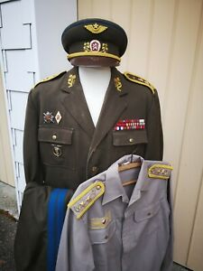 Generalmajor 1986 Czechoslowakia Uniform Luftstreifkräfte Tschechei SELTEN