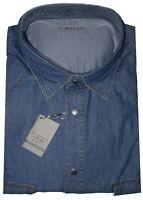 CAMICIA Jeans UOMO Taglie forti 3XL 4XL 5XL 6XL 7XL calibrata oversize TONGA