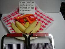 Lot Of 2 Potato Vegetable Serrator Krinkle Cut Wedger Julienne Use W/ Broaster