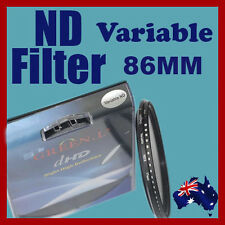 86mm Neutral Density ND filter adjustable variable ND2 to ND400 OZ stock