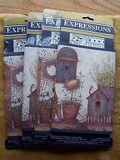 Roll Expressions Potting Bench Wallpaper Borders BIRDHOUSES Plants Primitive