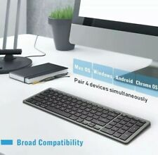 Universal Bluetooth Keyboard JACKYLED Ultra Slim Wireless Keyboard Full SizeGray