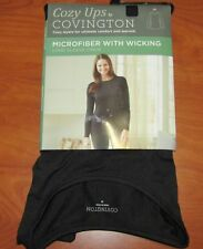 New Covington Cozy Ups Womens Black Microfiber Wi