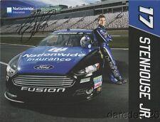 2014 Ricky Stenhouse, Jr. signed Nationwide Insurance NASCAR Sprint Cup postcard