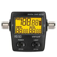 NISSEl RS-50 Digital SWR & Power Meter 125-525 Mhz UHF/VHF For 2 Way Radios New