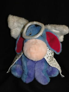 "New 2001 Disney Store Winnie the Pooh 12"" Christmas Angel EEYORE Plush Teddy"
