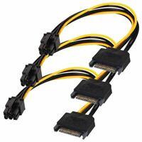 1X(SATA 15 pin a 6 cavo 3-pacco Cavo adattatore di alimentazione PCI Expres Y8V9