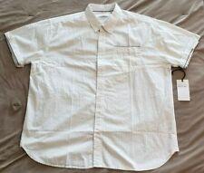 Paper Denim & Cloth Mens Button Down Short Sleeve Shirt Size 2XL White