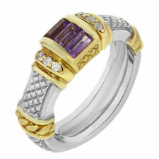 Anelli di lusso con gemme smeraldo Diamante