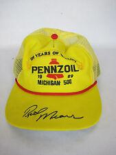 Rare Vintage 1989 Pennzoil Mesh Trucker Hat Michigan 500 Snapback One Size