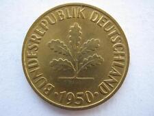 Alemania 1950-g 10 Pfennig, Unc.
