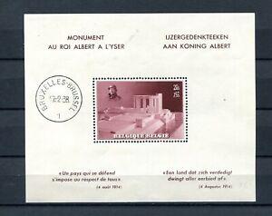 1938.BELGICA.BELGIQUE.HOJA Block Yvert 8 (Or) Postmarked (MH) Catalogue