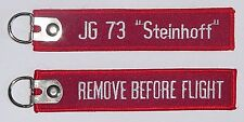 """Schlüsselanhänger mit D-Ring JG 73 """"Steinhoff"""" - Remove Before Flight  ....R1059"""