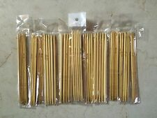"""Set Of 5 Bamboo Double Point Knitting Needles 5"""" -Your Choice Of Size -Us Seller"""