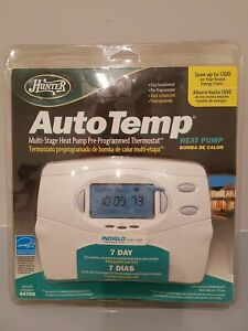 Hunter Auto Temp 7 day Multi-Stage Heat Pump Pre-Programmed Thermostat 44760