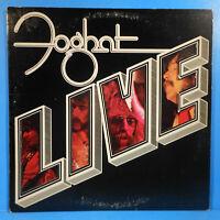 "FOGHAT LIVE VINYL LP 1977 ORIGINAL PRESS ""SLOW RIDE"" GREAT CONDITION! VG+/VG+!!A"
