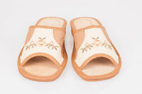 Ladies/Womens 100% Natural Leather Slippers UK Size:3,4,5,6,7,8 TKBR