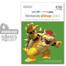 Nintendo eShop Card 50 Euro  Guthaben Code - 2DS, 3DS, Wii U, Switch   DE & EU