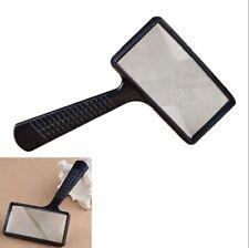 Handheld Rectangular Magnifier Magnifying Glass Loupe For Reading Repairing