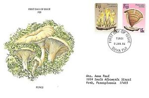 FIJI 1984 FIRST DAY COVER, PLANTS VARIOUS FUNGI