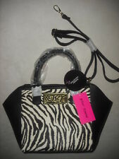 BETSEY JOHNSON SATCHEL HANDBAG PURSE BAG CROSSBODY ZEBRA SOLD OUT RARE! NWT