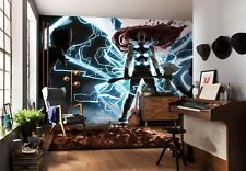 Riesiges Marvel Wandtapete 500x280cm Merkmal Wandbekleidung Thor Gott Von Donner