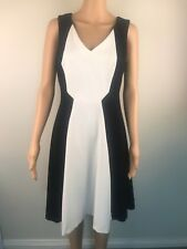 Next Women's Dress Black and White  Size 10 Business Evening Party
