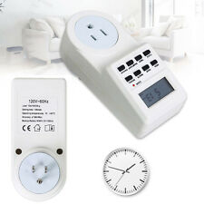 7 Day Digital LCD Electronic Programmable 12/24 Hour Timer Switch Socket US Plug