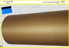 film vinyle carbone 3D doré thermoformable sticker adhésif covering 152cm x 20cm