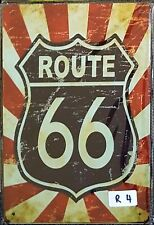 Route 66 Metal Tin Signs Bar Shed & Man Cave Signs AU Seller