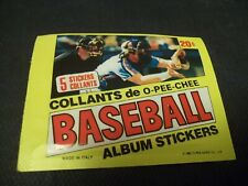 1982 OPC O-Pee-Chee Baseball Sticker Packs - contains 5 stickers